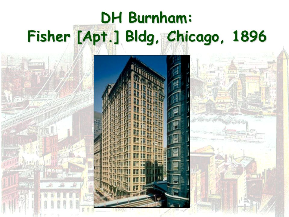 DH Burnham: Fisher [Apt.] Bldg, Chicago, 1896